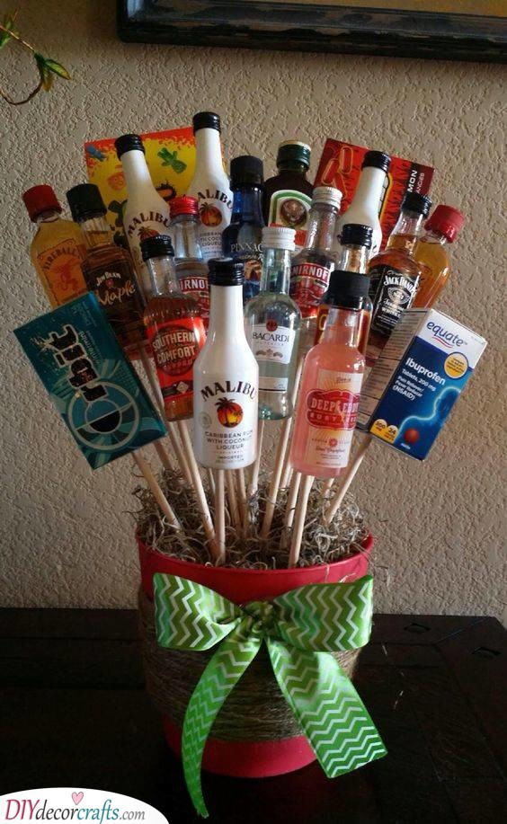 A Bouquet of Liquor - Good Christmas Gifts for Brothers