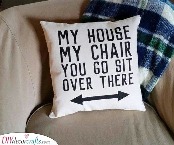A Funny Pillow - Christmas Gift Ideas for Brothers