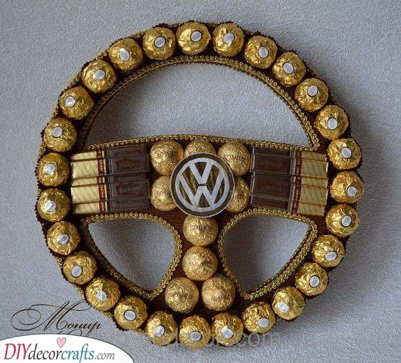 A Tasty Steering Wheel - Made Out of Chocolate