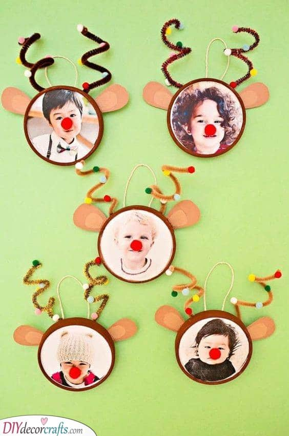 The Grandkids as Reindeers - Cute for Christmas