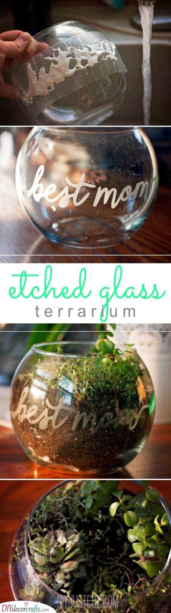 A Glass Terrarium - Christmas Gift Ideas for Grandparents