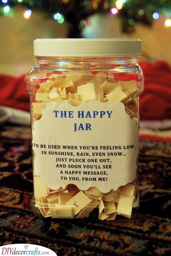 Happy Jar - Homemade Christmas Gifts for Grandparents