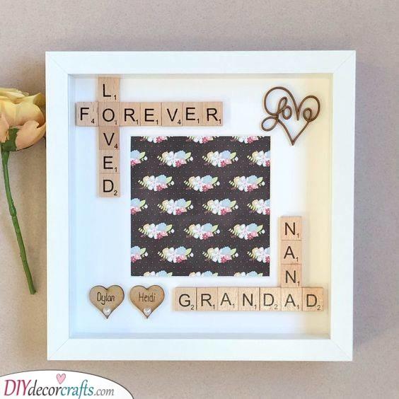 Scrabble Crafts - Love Forever