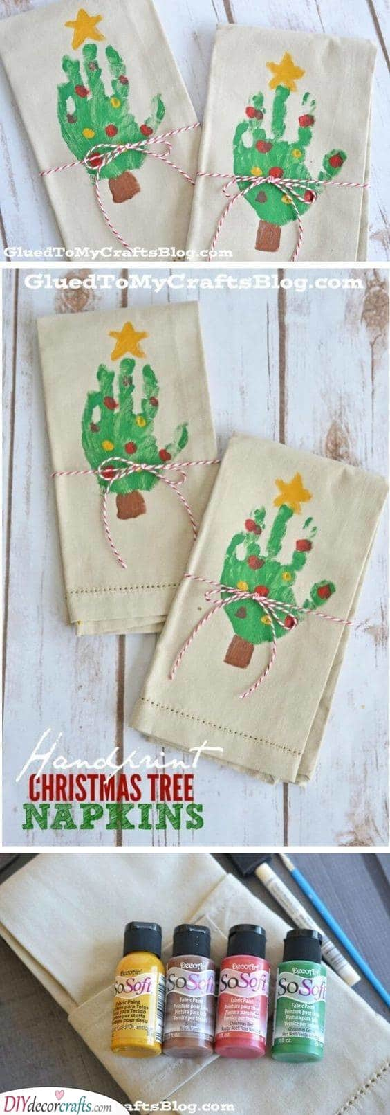 Napkins - Handmade Christmas Gift Ideas for Grandparents