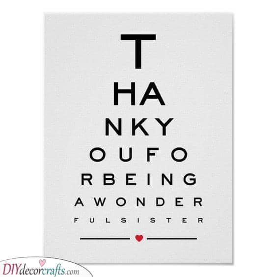 A Cute Eye Chart - A Lovely Idea