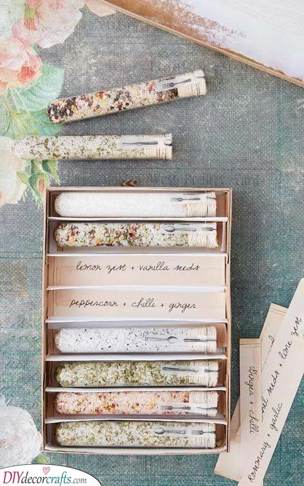 Spices in Test Tubes - Great for Cooking at Home