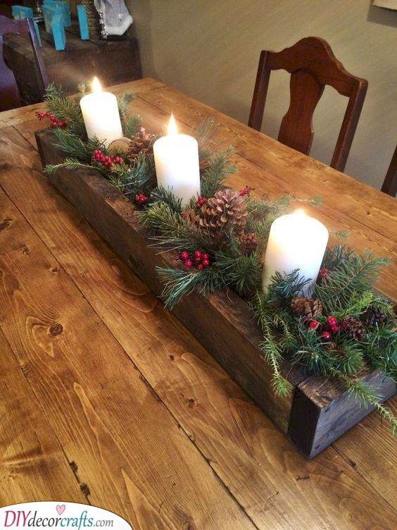 Branches of Fir - Christmas Table Centrepieces