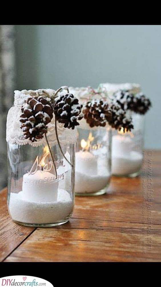 Wonderful Winter Wonderlands - Mason Jar Ideas