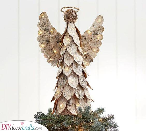A Birch Angel - Beautiful Christmas Table Centrepieces