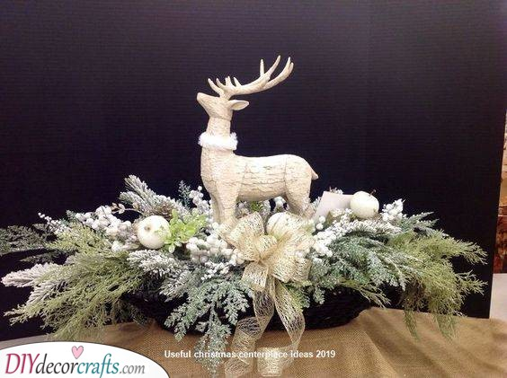 Add a Reindeer - Homemade Christmas Table Decorations