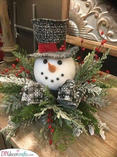 Adorable Snowman - Homemade Christmas Table Decorations