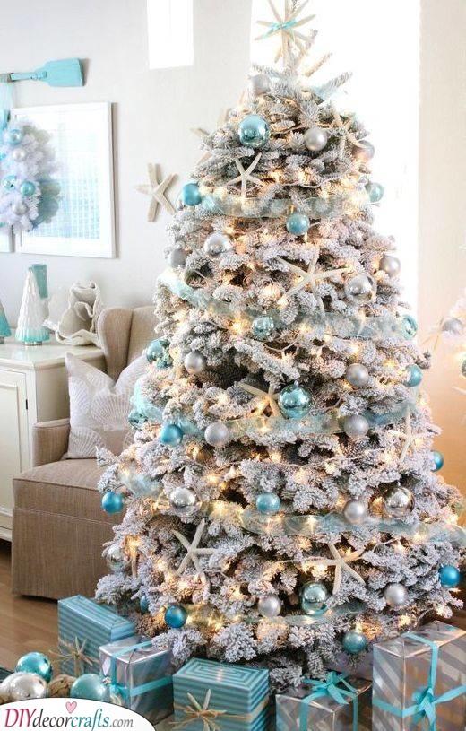 A Coastal Christmas - A Combination of Blue and White