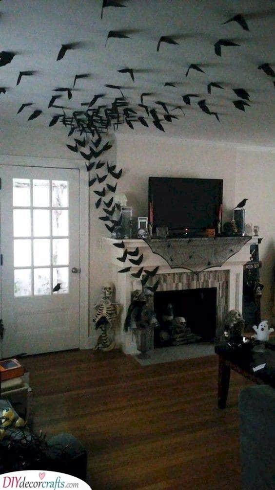 Flying Out of the Fireplace - Halloween Party Decorations