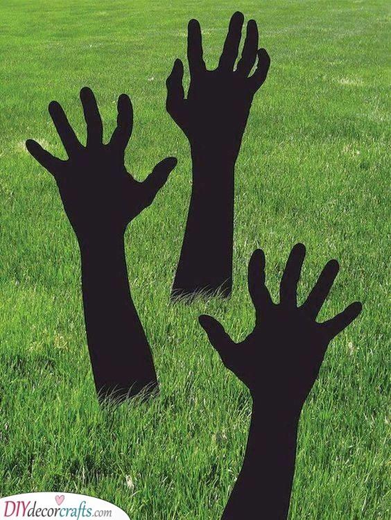 The Undead Awaken - Cheap Halloween Decoration Ideas