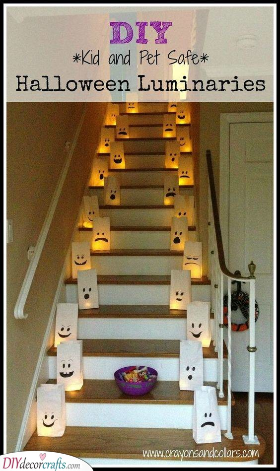 Flame Free Luminaries - Scary Halloween Decorations