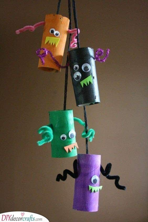 Mini Monsters - Toilet Paper Roll Crafts