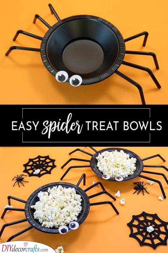 Spider Treat Bowls - For Trick-or-Treat