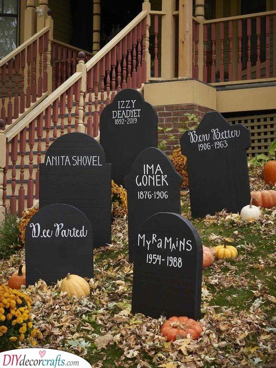 A Small Cemetery - Halloween Party Decorations