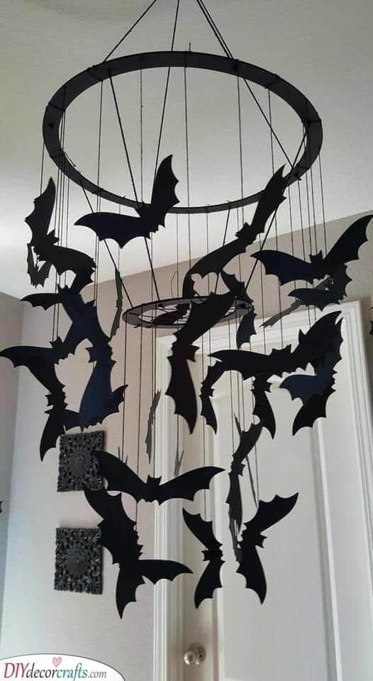 An Array of Flying Bats - Creepy Halloween Decorations