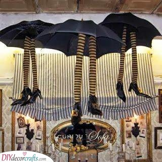 Hanging the Witches - Great Halloween Party Decorations