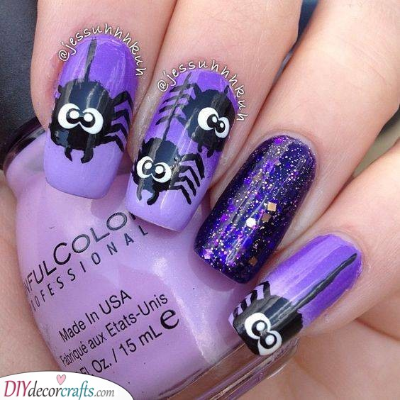 Sparkling and Spidery - Give It a Spooky Look