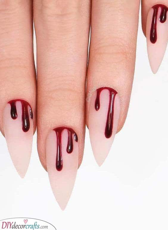 A Bit of Blood - Scarily Stunning Nails