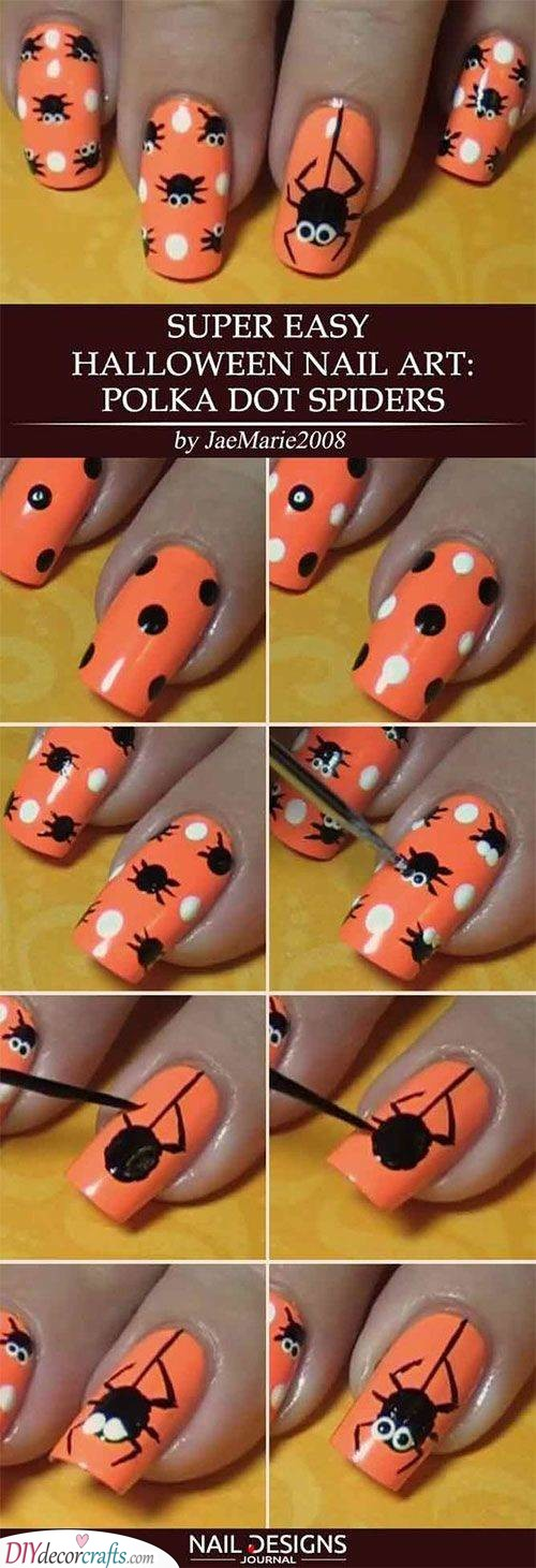 Easy and Cute - Polka Dot Spiders