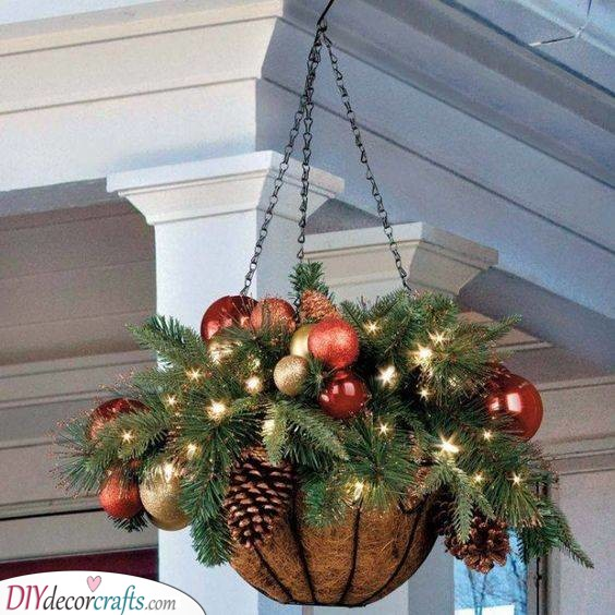 A Hanging Basket of Christmas - Beautiful and Refined