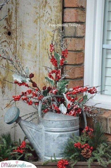 A Watering Can - Filled With Mistletoe
