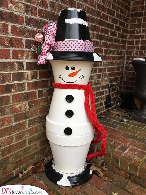 A Planter Snowman - Unique and Cute
