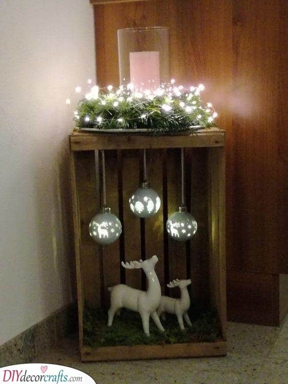 A Winter Atmosphere - Reindeers and Lights