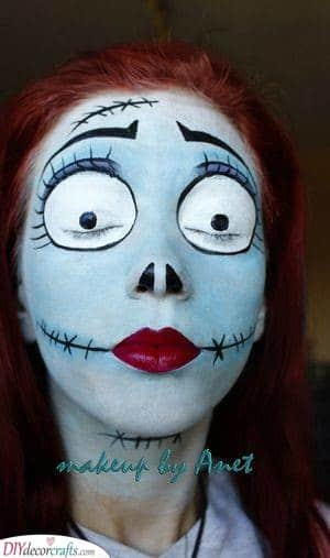 Sally - Halloween Face Paint Ideas for Adults