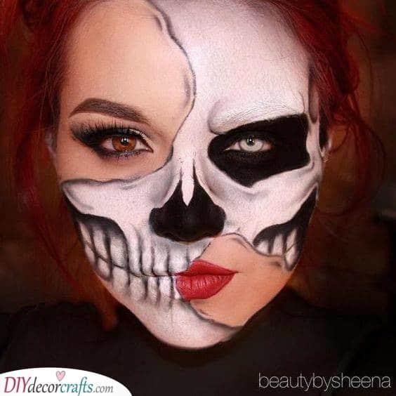 Frightening Skeleton - Easy Halloween Makeup Ideas