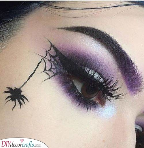 Spider and Web - Halloween Face Paint Ideas for Adults