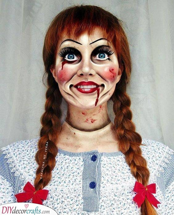 Annabelle Makeup - The Haunted Doll