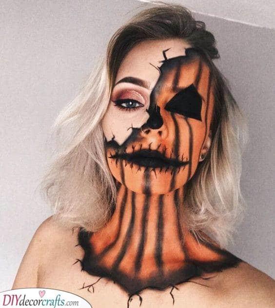 A Creepy Pumpkin - Perfect for Halloween