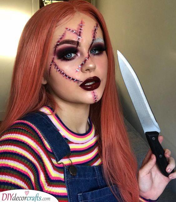 Recreate Chucky - Easy Halloween Makeup Ideas