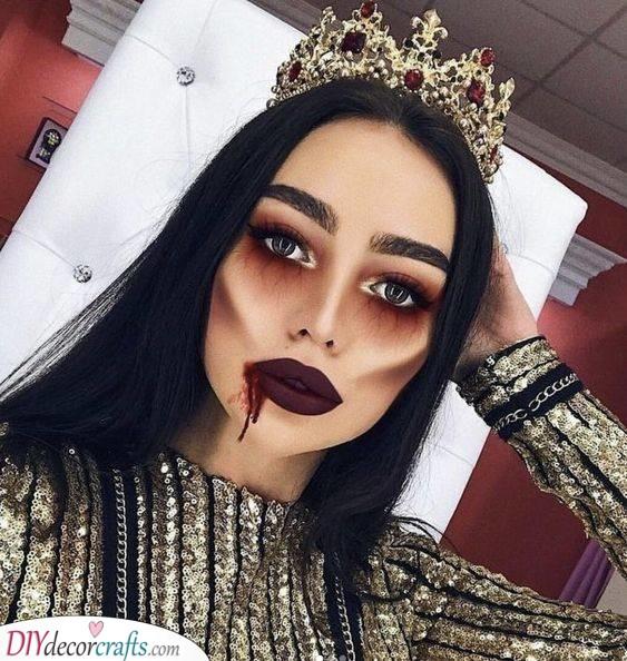 An Evil Queen - Halloween Makeup Ideas
