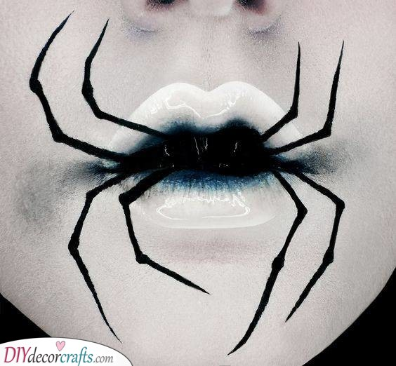 Lip Art - Halloween Face Paint Ideas for Adults
