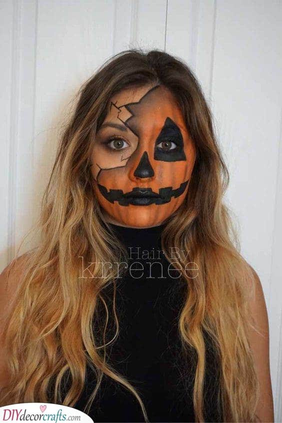 Broken into Bits - Halloween Face Paint Ideas for Adults