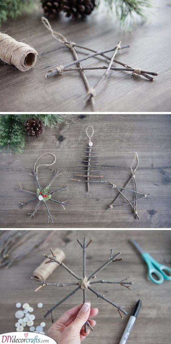 Wooden Twig Crafts - A Natural Ambience
