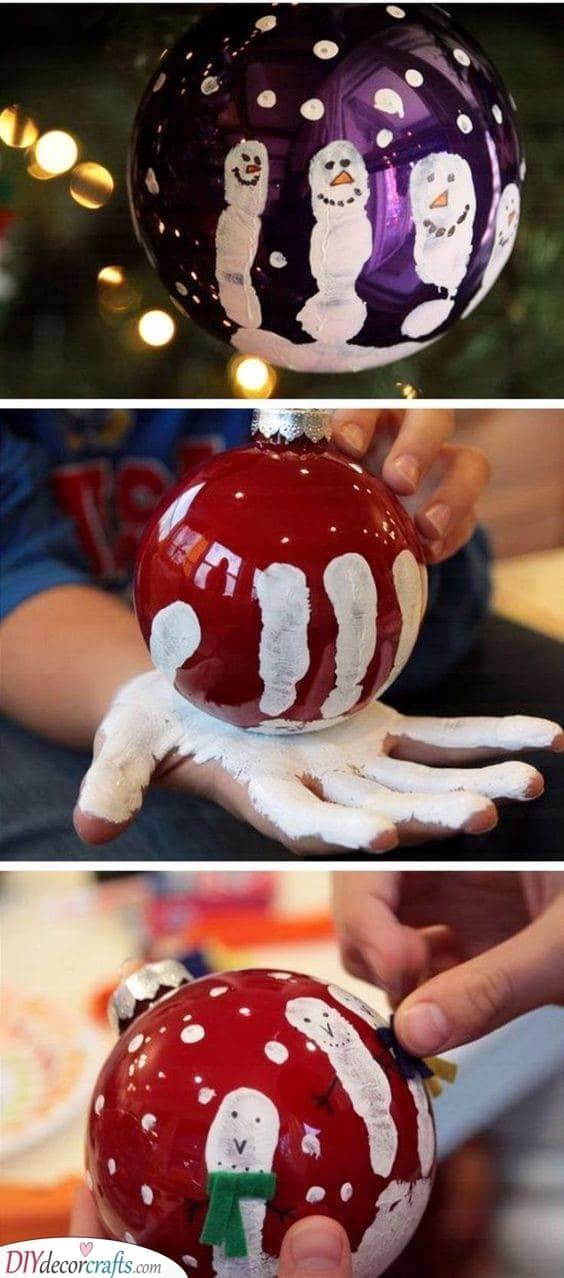 Use Your Handprint - Handmade Christmas Ornaments