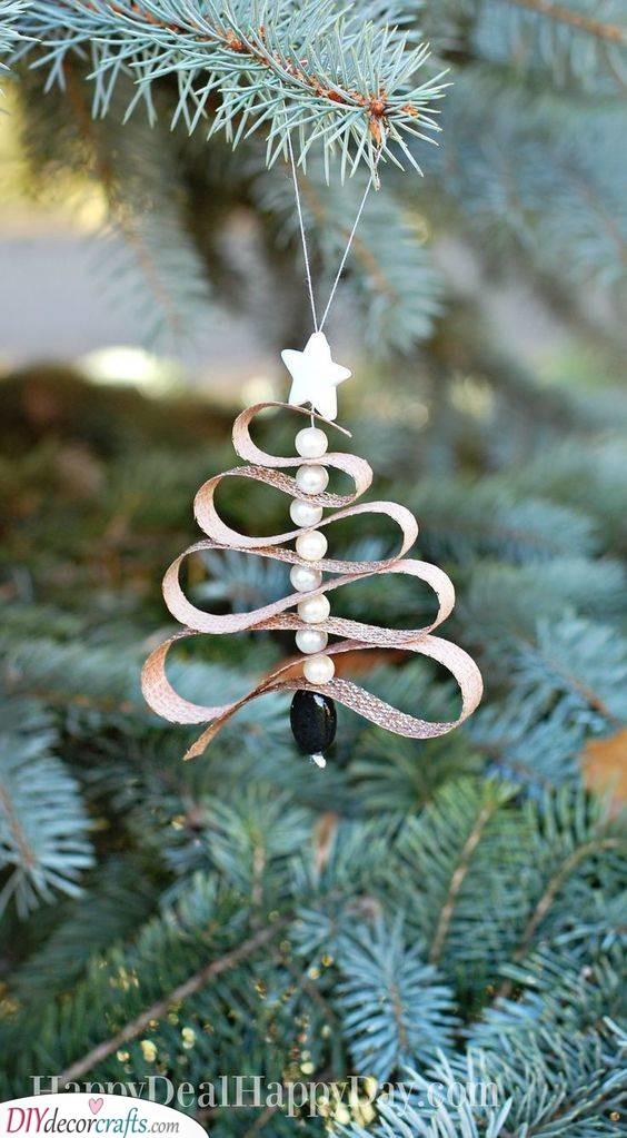 Beads and Ribbon - Handmade Christmas Tree Decorations