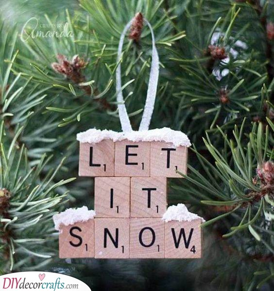 Let it Snow - Creative With Scrabble