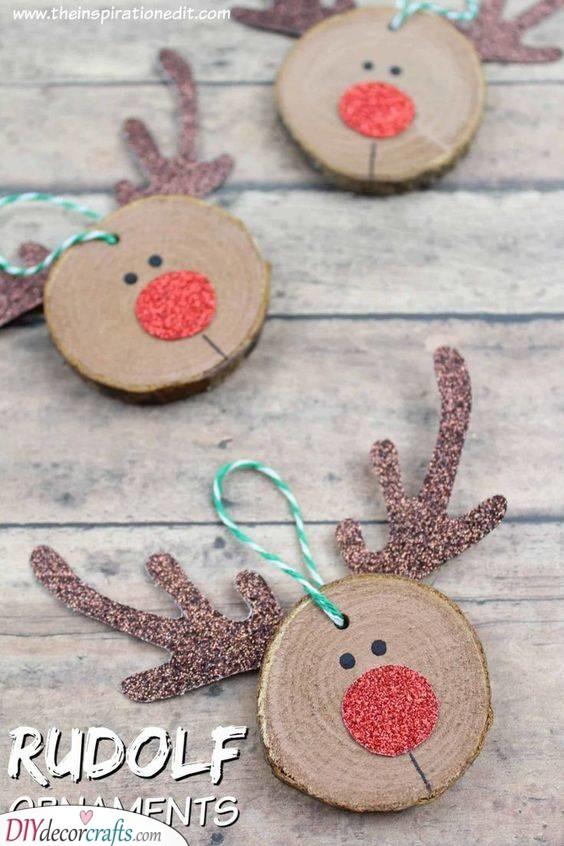 Rudolf the Red-Nosed Reindeer - DIY Christmas Ornaments