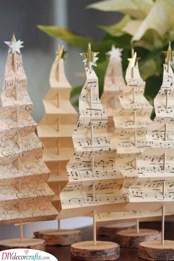 Musical Trees - Amazing Crafts for the Holidays