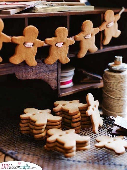 Gingerbread Men - Homemade Christmas Tree Decorations