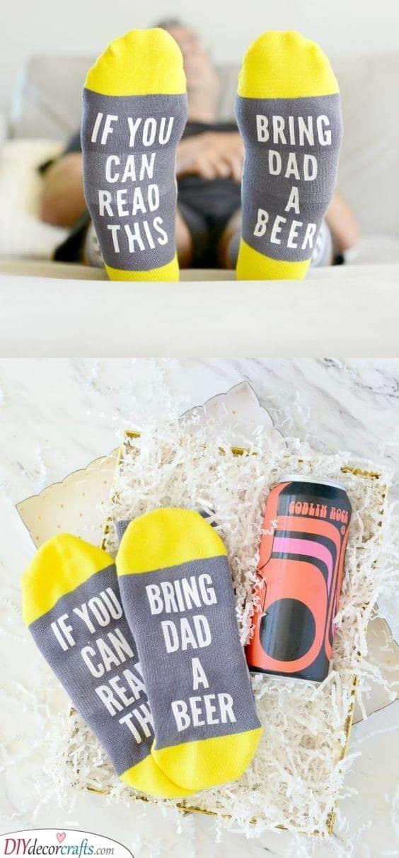 Funny Socks - Christmas Present Ideas for Dad