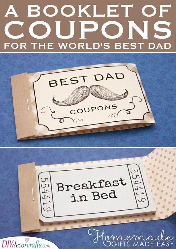 A Booklet of Coupons - Helping Dad
