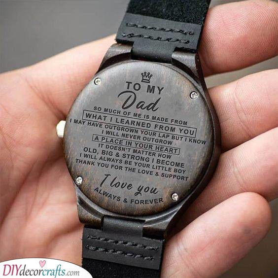 An Engraved Watch - Message for Your Dad